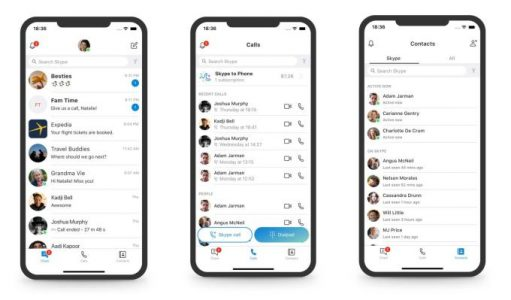 Skype rolls back its redesign by ditching stories, squiggles and over-the-top color   Social