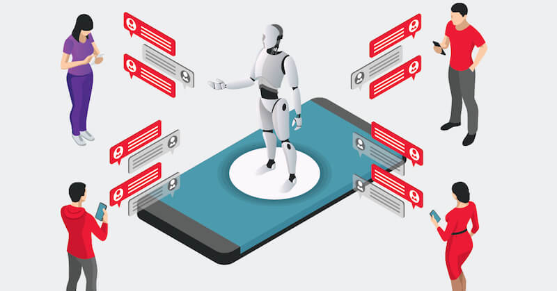 Working with artificial intelligence in marketing