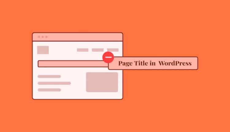How to Remove Page Title In WordPress Using Plugin