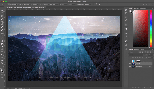 Screenshot of Adobe Photoshop Interface