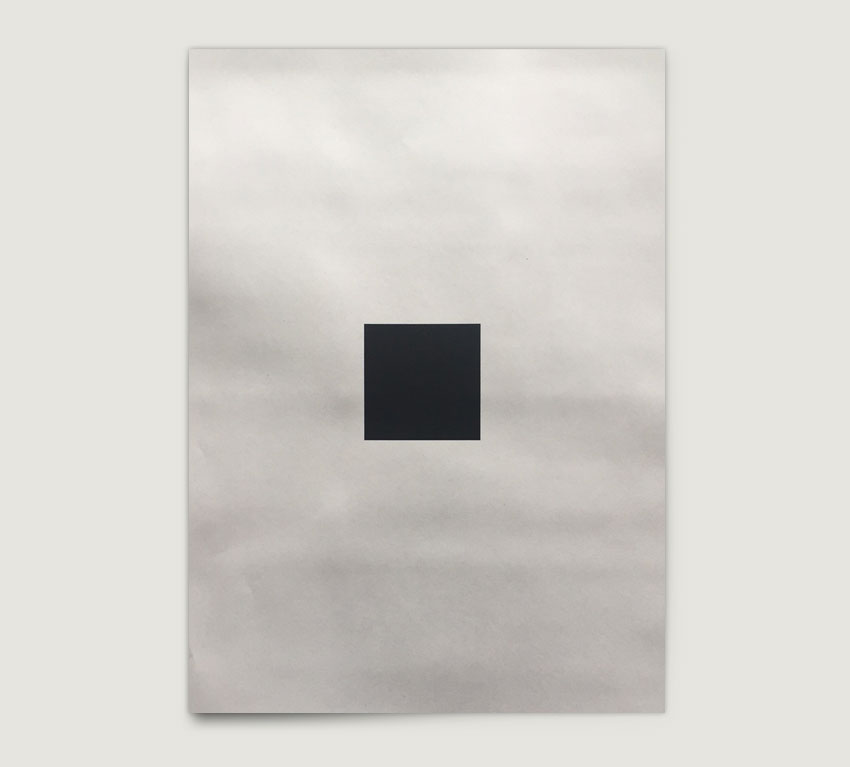 Black square printed