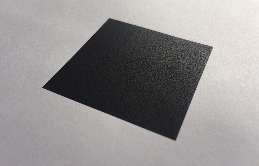 Black square perspective