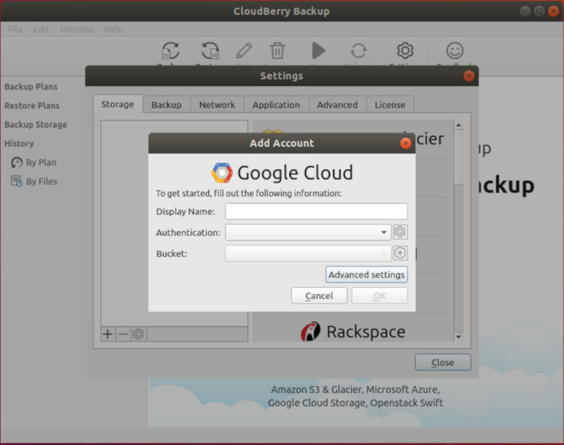 CloudBerry Google Storage