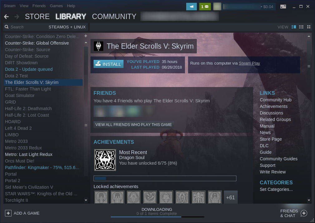 Steam Library Play Enabled