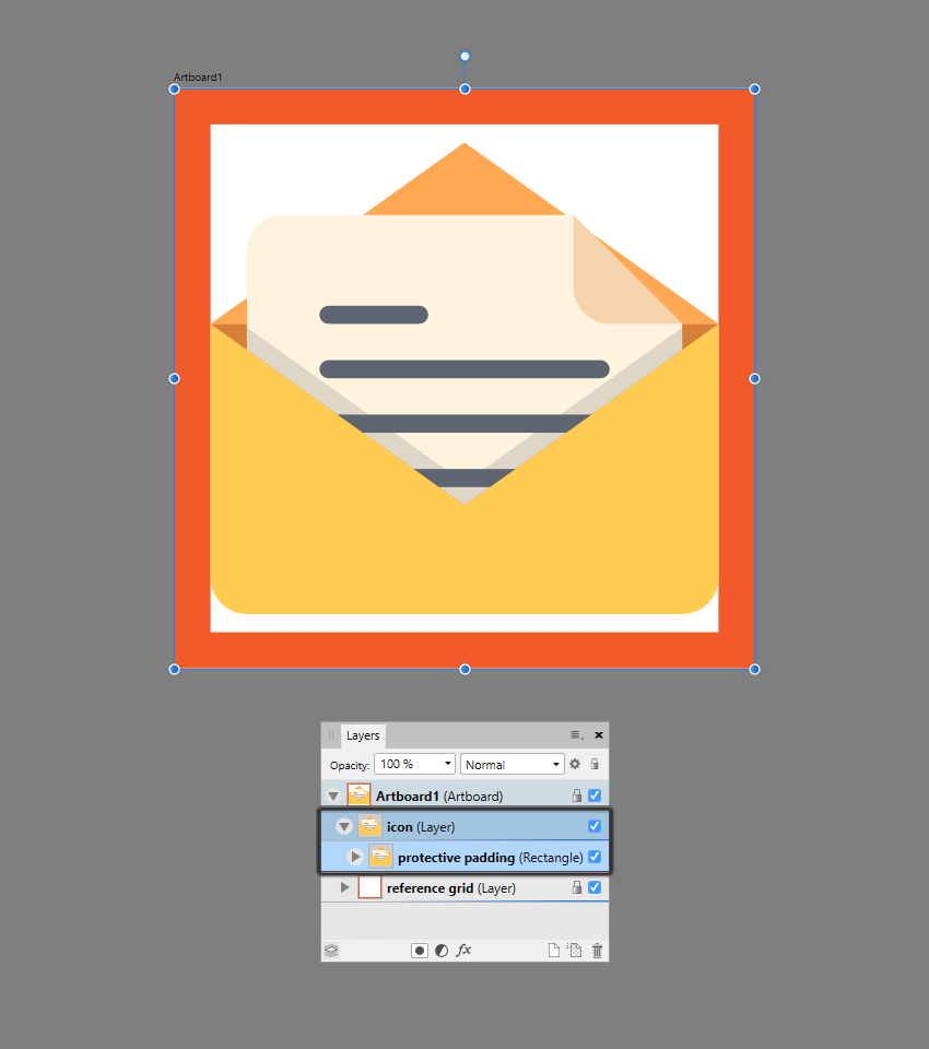 finishing off the icon