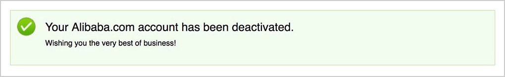 account deactivated
