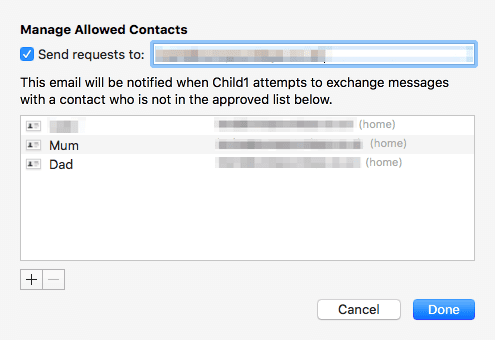 Manage Allowed Contacts