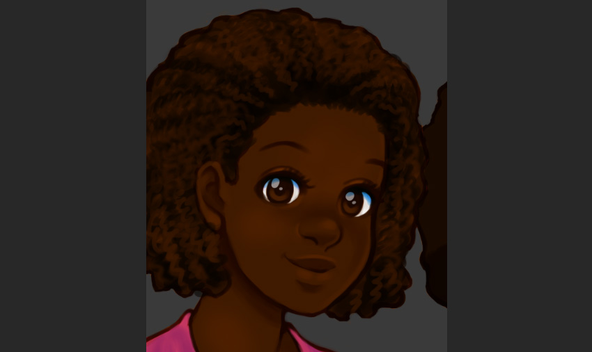 Additional refinements with a Soft Round Brush