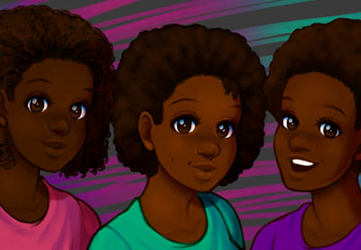 How to Paint Natural, Afro Textured Hair in Adobe Photoshop | How To