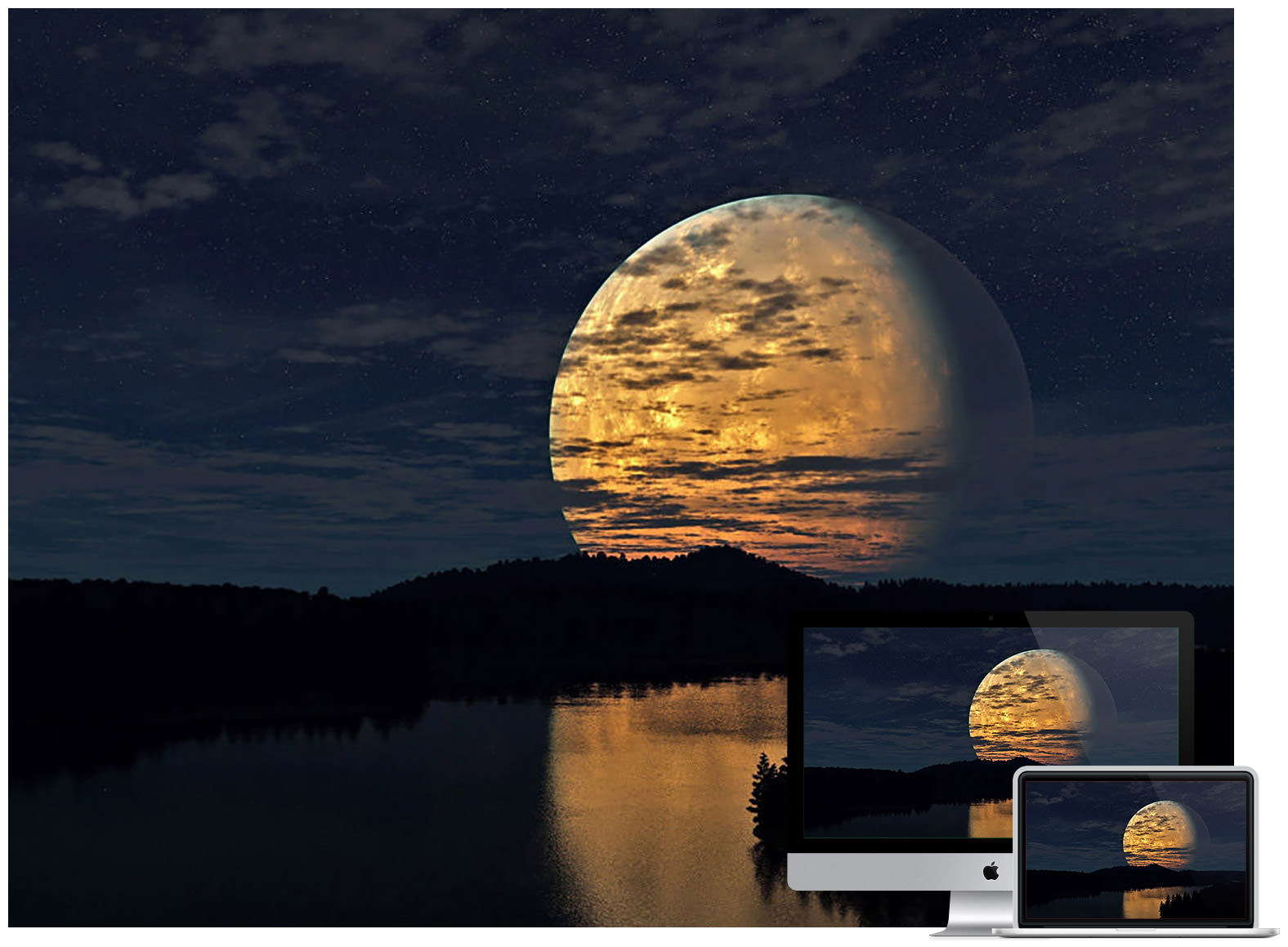 night-sky-moon-river-reflection
