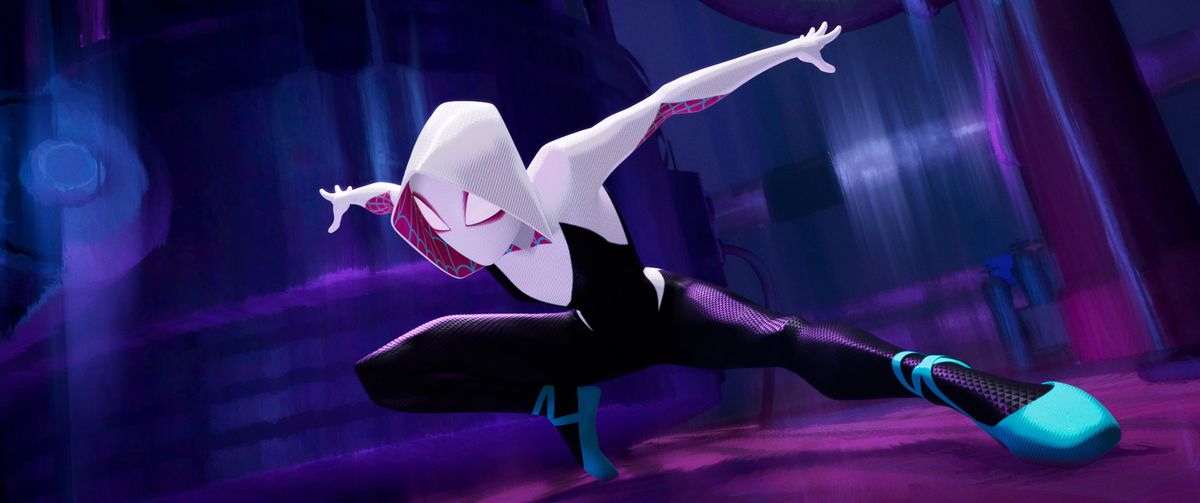gwen stacey in spider-man into the spider-verse