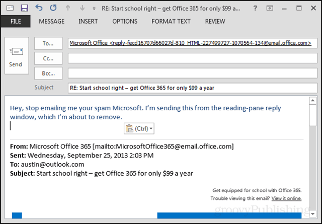 outlook 2013 new compose window
