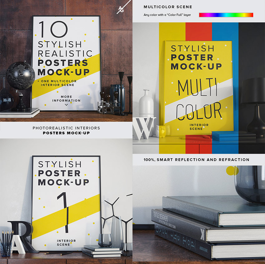 Cool Interior Photoshop Posters Mock-ups
