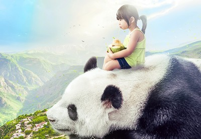 How to Create a Giant Panda Photo Manipulation in Affinity Photo | How To