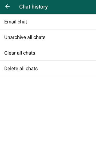 Unarchive all chats