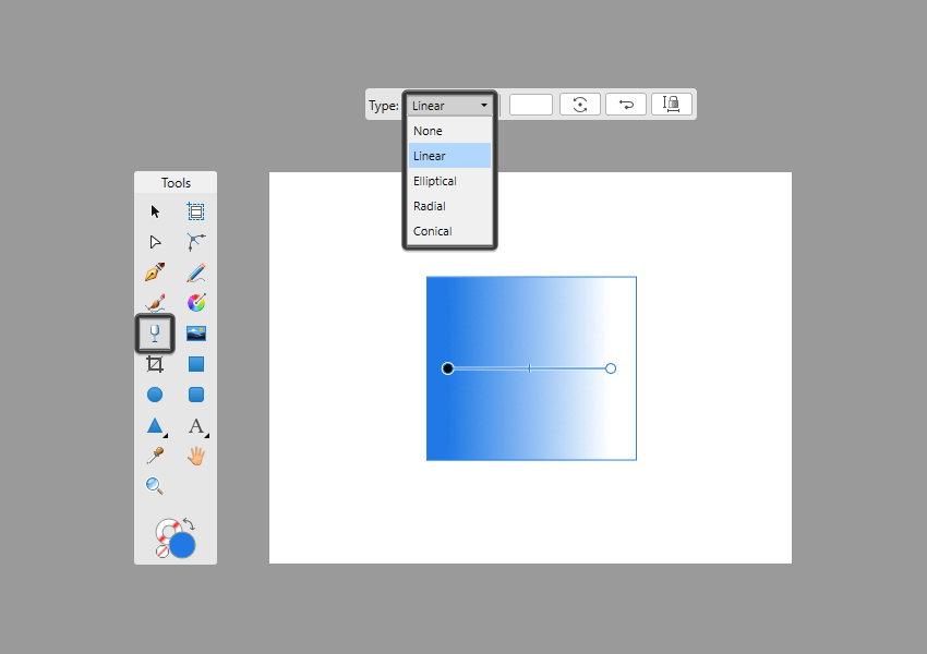 example of transparent gradient types