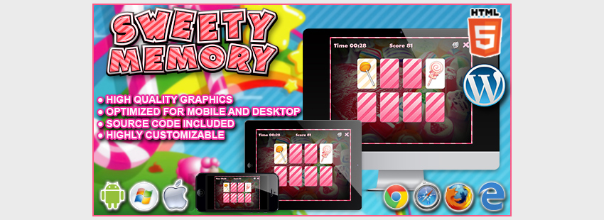Sweety Memory - HTML5 Game