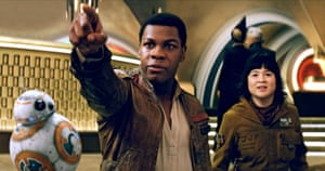 Universally popular ... John Boyega and Kelly Marie Tran in Star Wars: The Last Jedi.