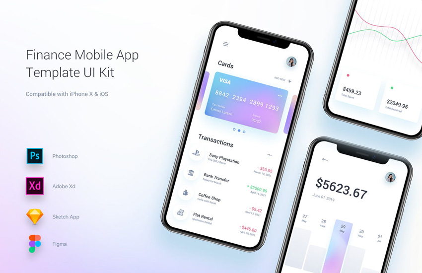 Finance Mobile App Template UI Kit