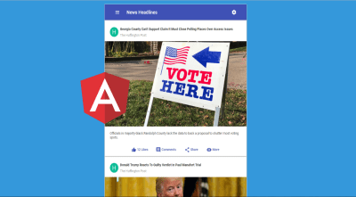 A news application with Angular 6 and Material Design