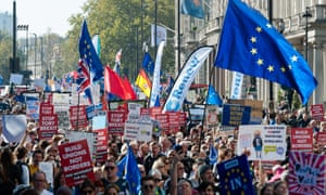 People's Vote marchers: 'virtue signallers', 'lemmings', 'cowards', according to online commenters.