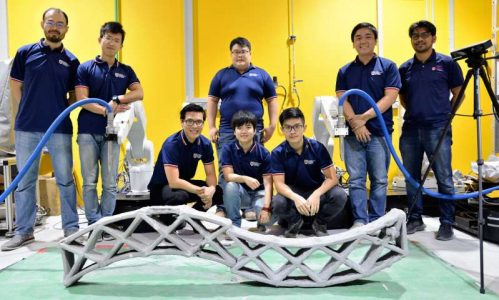 NTU Singapore scientists develop smart technology for synchronized 3D printing of concrete