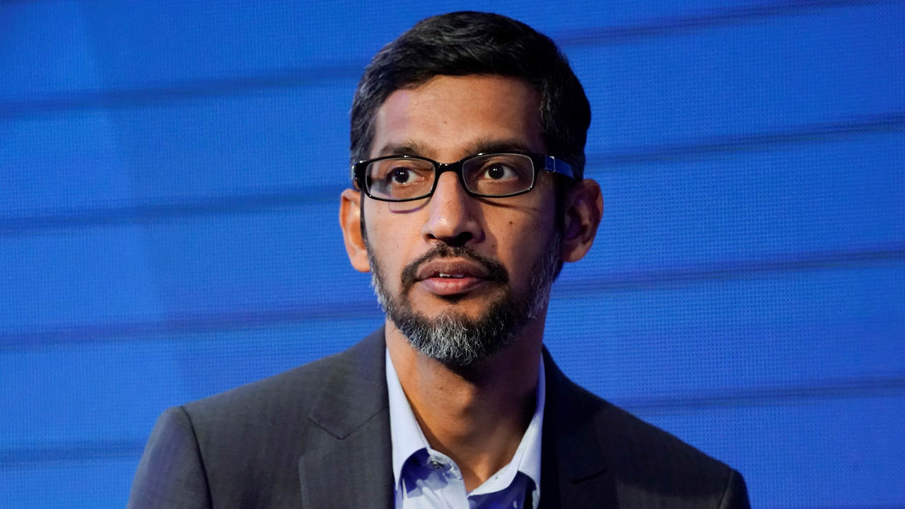 Sundar Pichai, Chief Executive Officer of Google, looks on during the World Economic Forum (WEF) annual meeting in Davos, Switzerland January 24, 2018. REUTERS/Denis Balibouse - RC135092BD10
