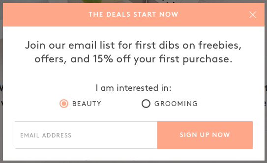 Birchbox – Email Marketing Opt-In