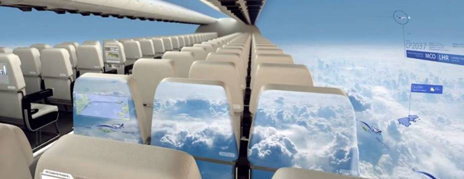 Windowless planes will give passengers a panoramic view of the sky 1
