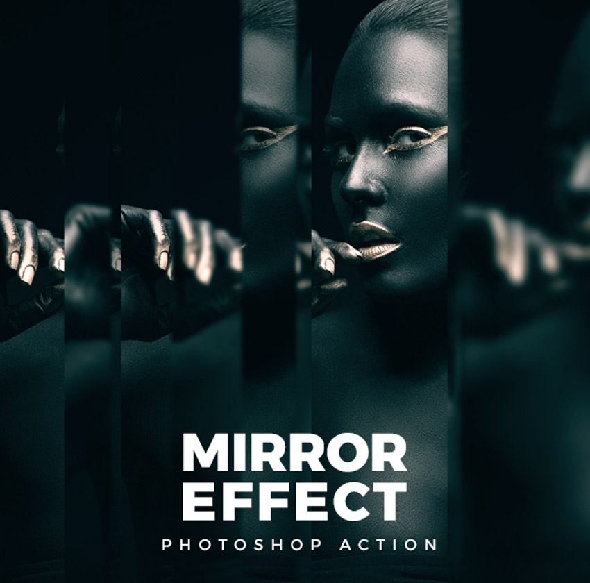 Mirror Effect Photoshop Action