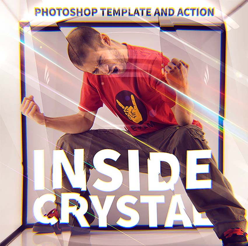Inside Crystal Photoshop Action
