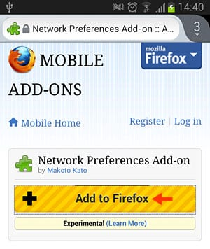 Using Network Preference Add-On
