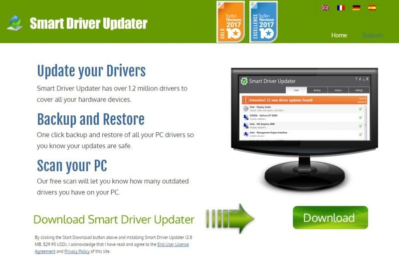 Smart Driver Updater - best driver update software 2018