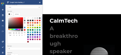 ModifyING the text color to make the text more relevant to the theme