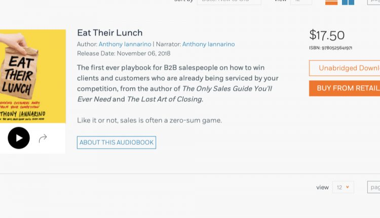 Eat Their Lunch Audio Book Available Worldwide | Sales