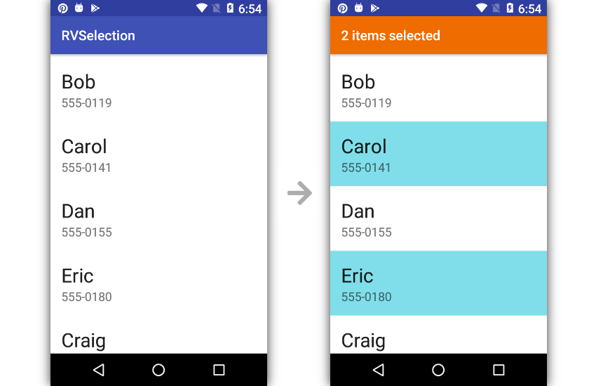 How to Add Multiple Selection to Android RecyclerView   Tips