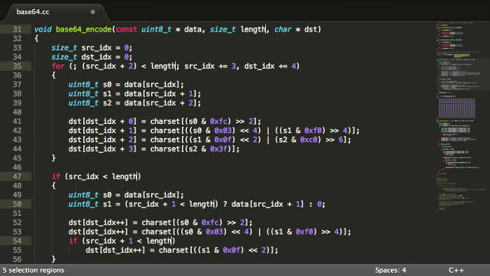 Sublime text editor for Linux.