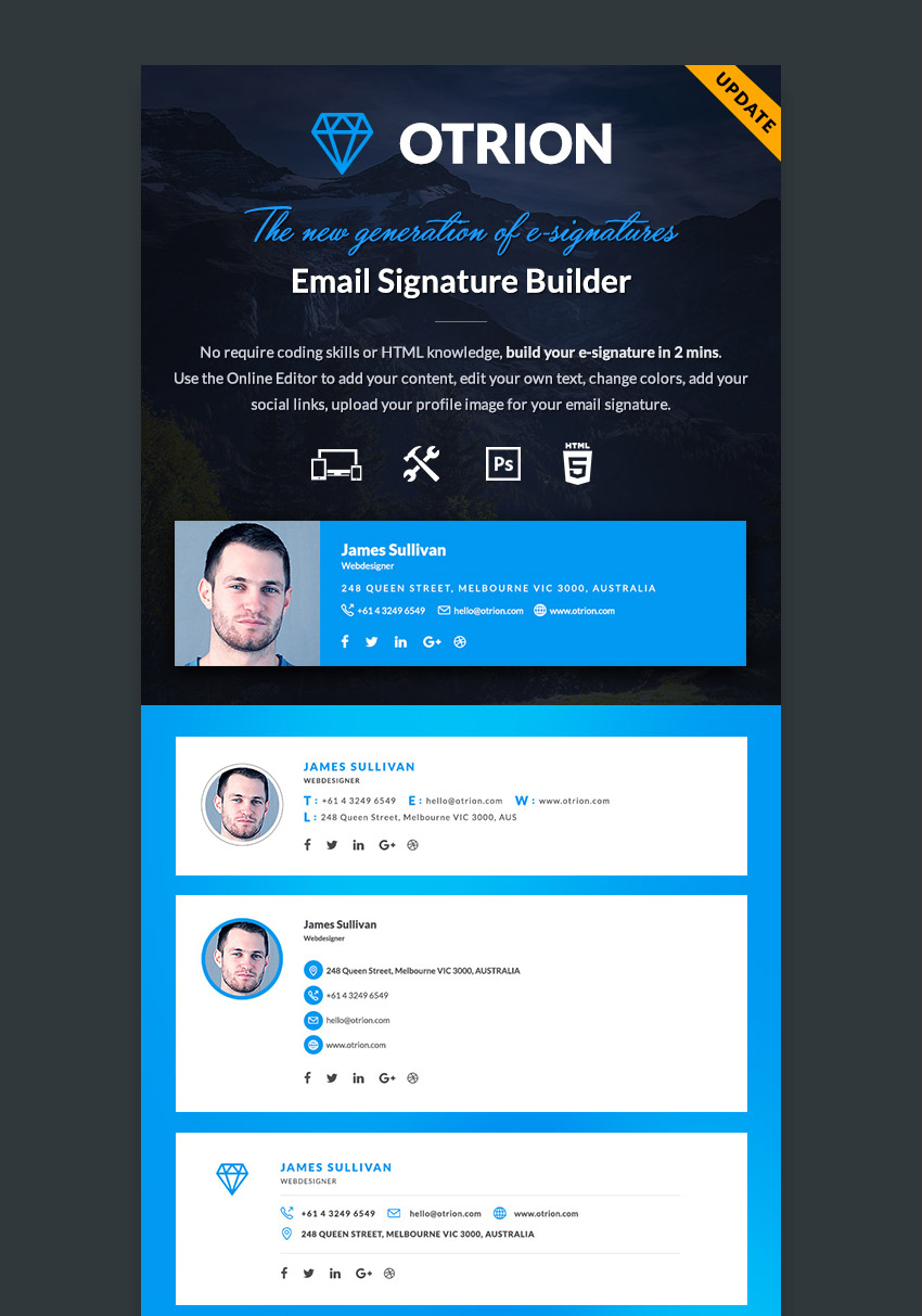 Otrion E-Signature Professional Email Template Builder