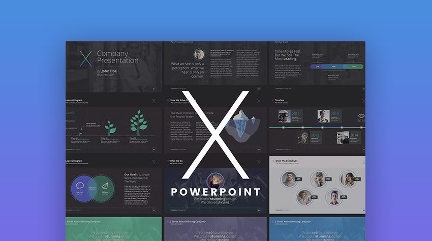 The X Note Awesome Interesting PowerPoint Template Designs
