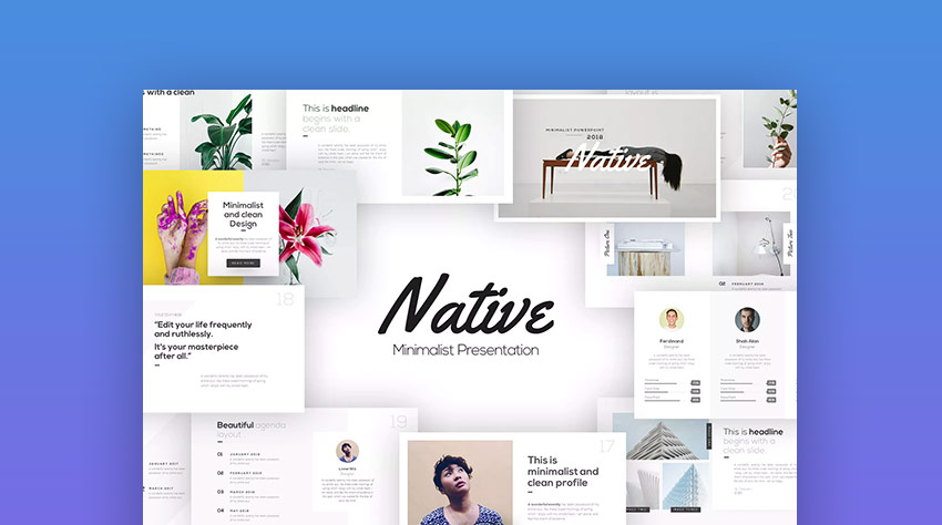Native Stylish Fun Interesting PPT Template Design