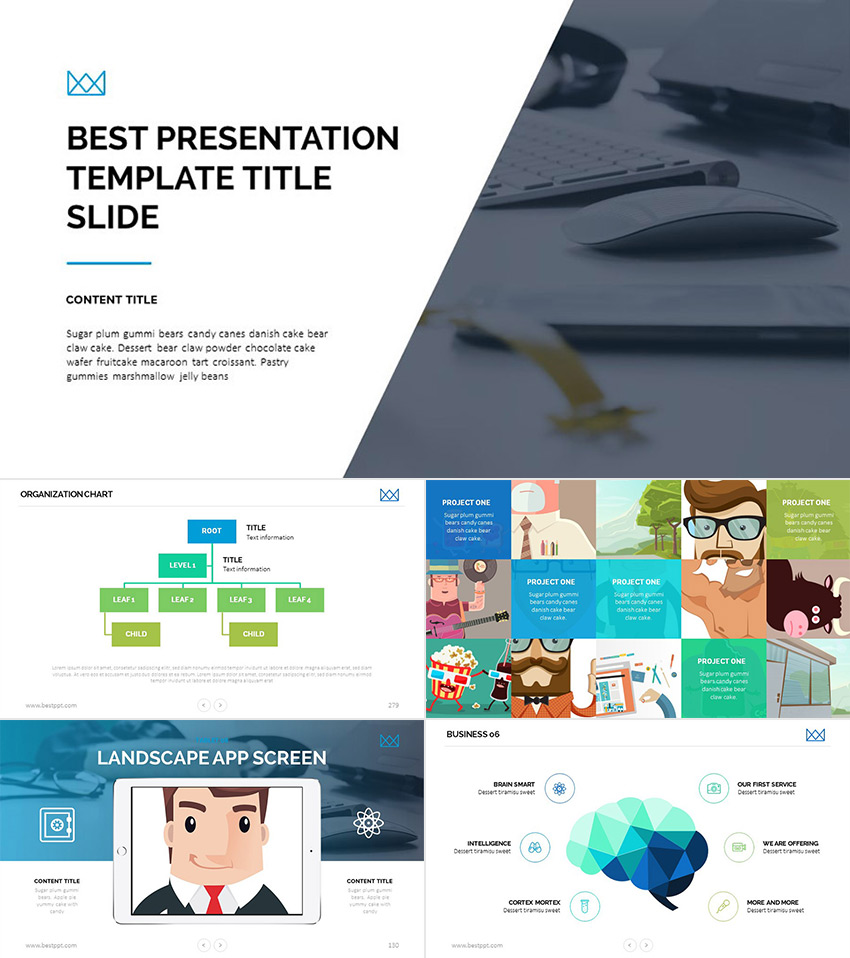 Best Business Awesome PowerPoint Template Presentation Set