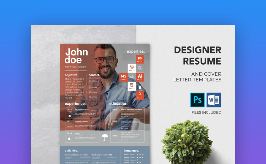 Designer Resume Cover Letter Template