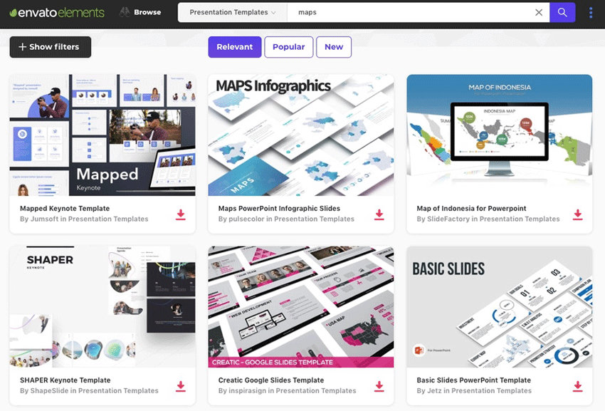 Maps Templates in Envato Elements