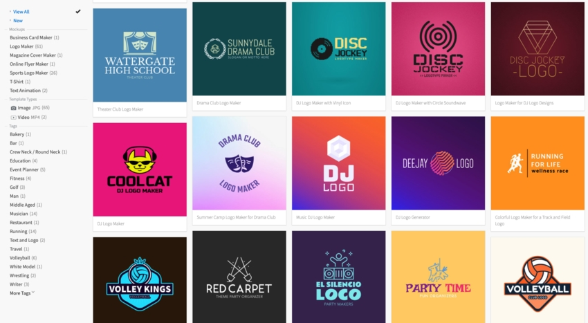 Choosing a logo at Placeit