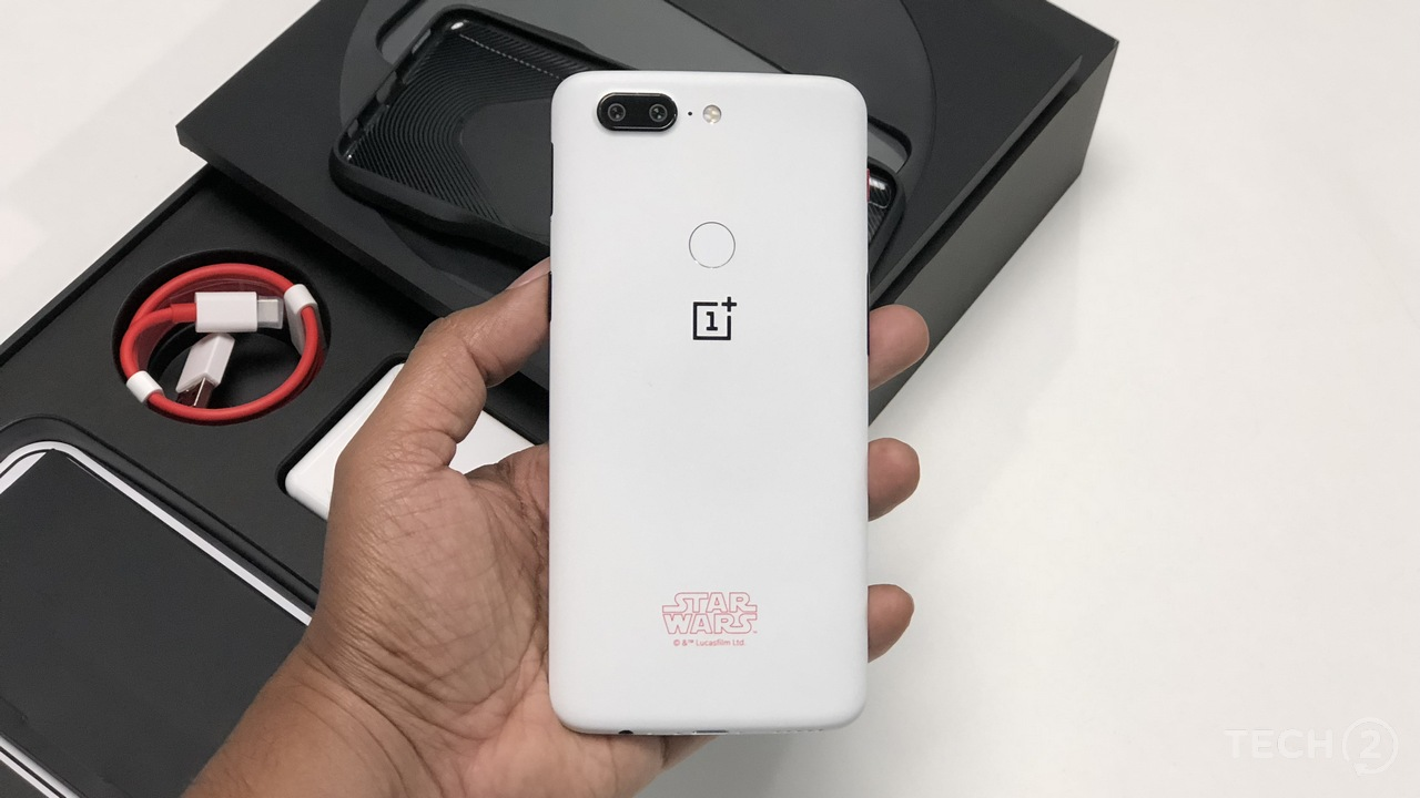 OnePlus 5T Star Wars Limited Edition. Image: tech2/ Sheldon Pinto
