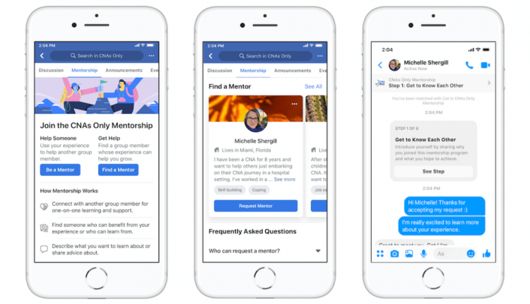 Facebook tweaks group mentorship tool so users can choose their mentors | Social Media