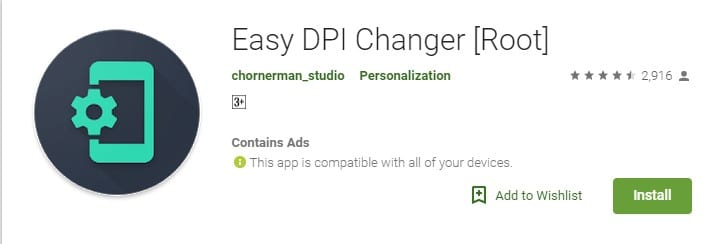 Change DPI Density On Android