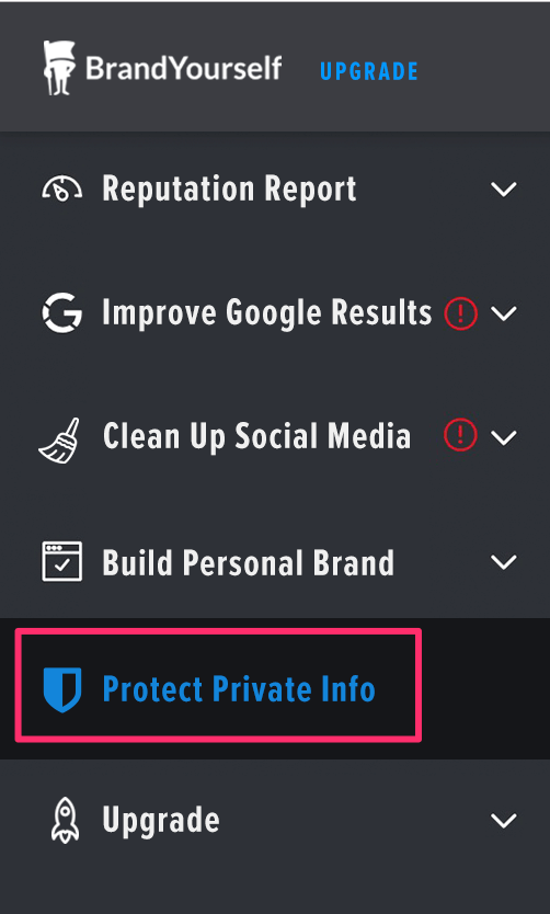 Protect info section for BeenVerified