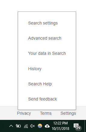 delete-search-history-click-on-settings