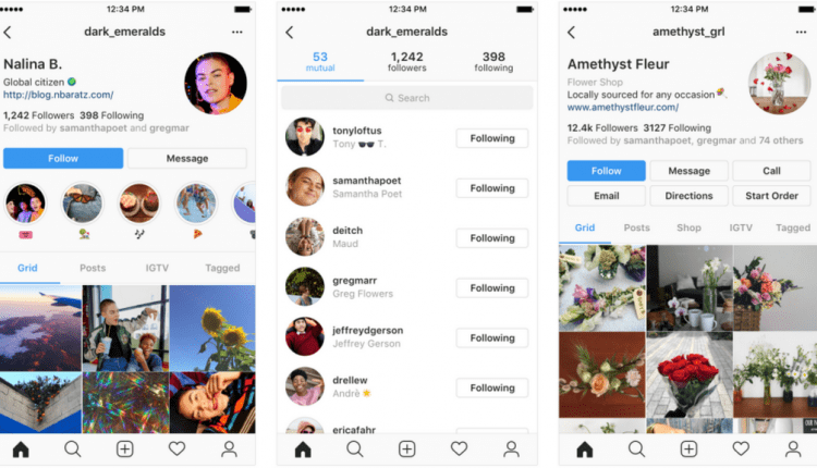 Instagram testing a new profile design with focus on users instead of follower count